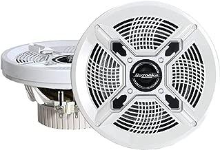 Bazooka MAC6510W 6.5-Inch Marine Coaxial Speaker - Set of 2 (White)