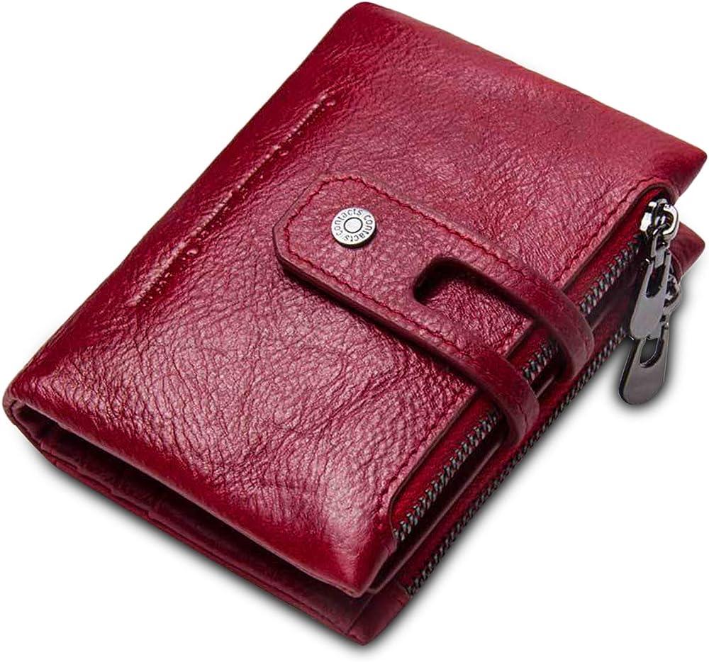 Fandare, portafoglio, porta carte di credito, unisex, in pelle AK-BW001
