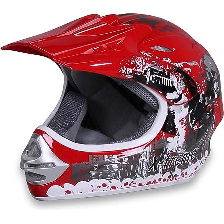 Armor Helmets Akc 49 Red Kinder Cross Helm Motorrad Helm Mx Cross Helm Mtb Bmx Cross Bike Downhill Off Road Enduro Helm Moto Cross Sport Dot Schnellverschluss Tasche Xs 51 52cm Auto