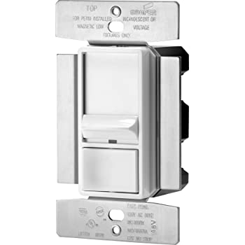 Eaton SI10P-W Skye 3-Way Single-Pole Full Slide Decorator Dimmer with Preset, 1000-watt, White Finish