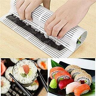 Outtybrave - Esterilla de Sushi de Silicona Japonesa para enrollar Rollos de Sushi, Transparente