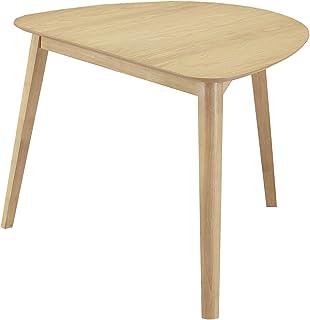 関家具(Sekikagu) ダイニングテーブル ナチュラル 幅90×奥行80×高さ72cm 変形テーブル オーク突板 217622
