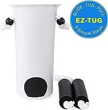 Vaunn Medical EZ-TUG Sock Aid Assist with Foam Grip Handles and Length Adjustable Cords
