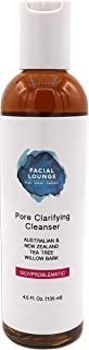 FACIAL LOUNGE Pore Clarifying Cleanser Face Wash For Oily, Acne-Prone Skin - Organic & Vegan, Sulfate-Free, Natural Salicylic Acid - Cleans Pores, Dissolves Oil On Contact Without Drying Skin
