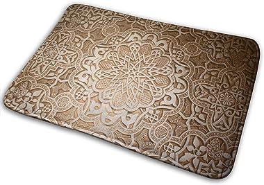 Non-Slip Doormats Decorative Pattern Entrance Rug Indoor/Outdoor Carpet Absorbs Moisture Washable Dirt Trapper Mats