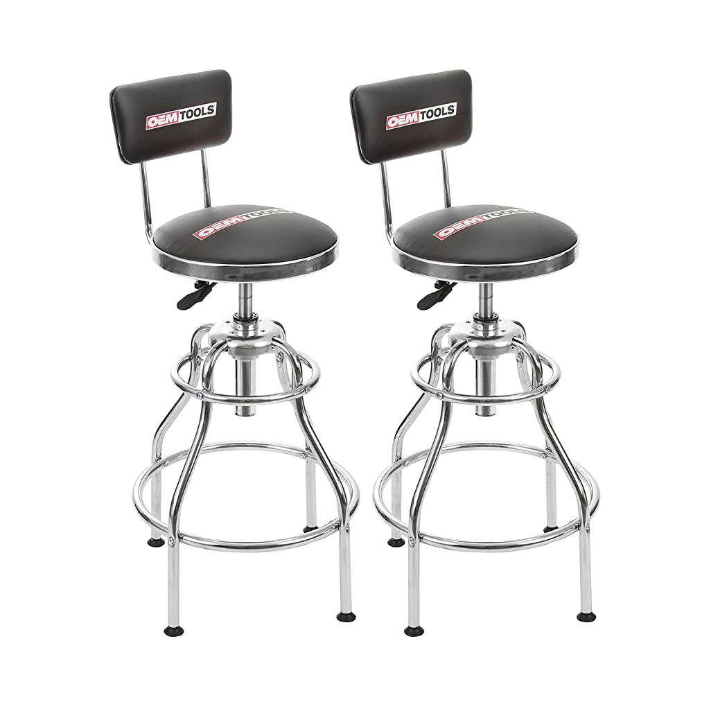 OEMTOOLS 24911TWO Adjustable Hydraulic Stool 2 Pack