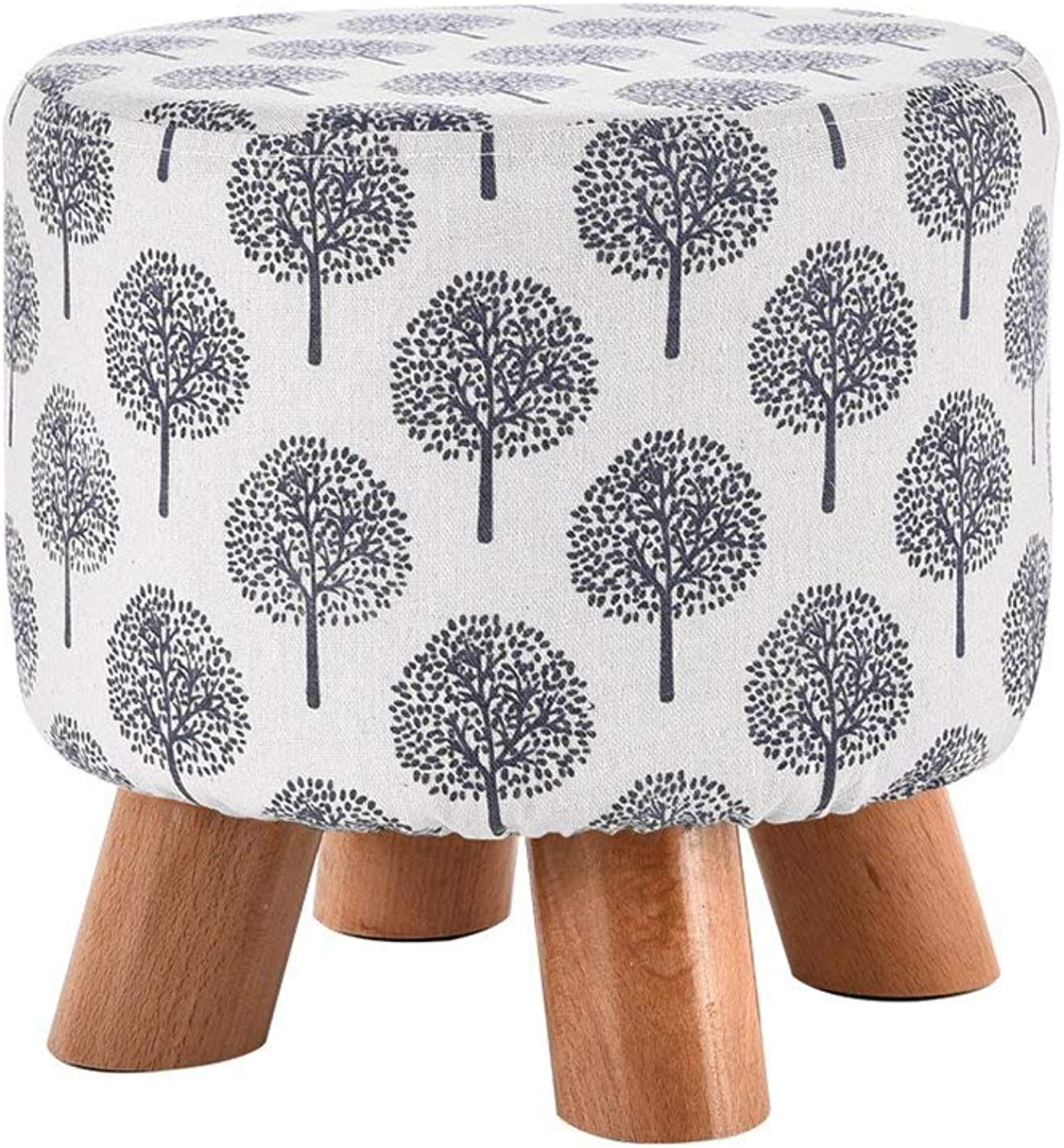 ChenDz Cute Stool Solid Wood Stool Change shoes Stool Sofa Stool Fashion Creative Stool shoes Small Stool Fabric Cushion Coffee Table Stool Small Bench Removable Washable (color   G)