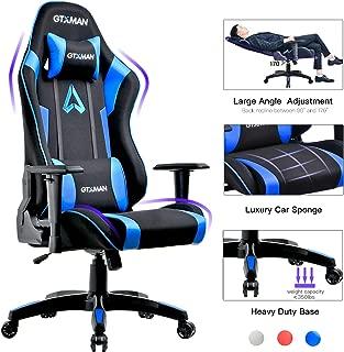 GTXMAN Gaming Chair Racing Style Office Chair Video Game Chair Breathable Mesh Chair Ergonomic Heavy Duty 350lbs Esports Chair Blue