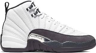 Nike Air Jordan 12 Retro GS Kids White/Dark Grey 153265-160 (Size: 7Y)