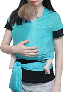 Vlokup Baby Wrap Sling Carrier for Newborn, Infant, Toddler, Kid | Breathable Lightweight Stretch Mesh Water Sling | Nice for Summer, Pool, Beach, Swimming | Perfect Shower Gift Bluishgreen