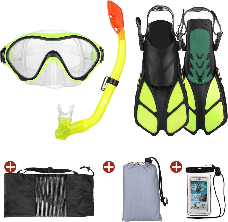 Odoland 6-in-1 Kids Snorkeling Japan Maker New Packages Sno Set Dry latest Snorkel Top