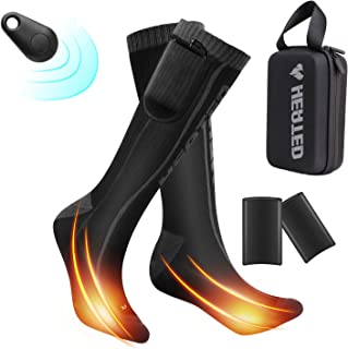 BIAL Heated Socks, Electric Rechargeable Battery Operated Socks 3 Heating Settings Thermal Socksfor with Remote Foot Warme...