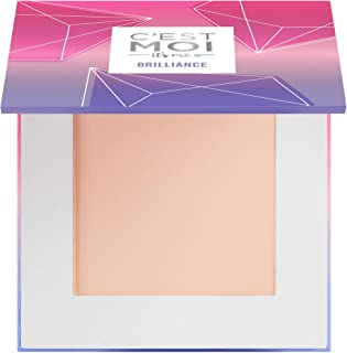 C'est Moi Brilliance Pressed Powder Foundation   Lightweight Buildable Mineral Foundation for Delicate Skin Types with Fai...