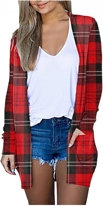 Cardigan Sweaters for Women, Women's Casual Long Open Front Solid Drape Lightweight Duster High Low Hem Maxi Long Sleeve Cardigan