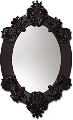 Lladro Oval Mirror Black