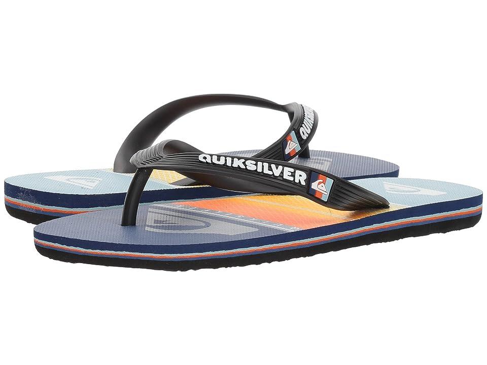 Quiksilver Kids Molokai Highline Slab (Toddler/Little Kid/Big Kid) (Black/Orange/Blue) Boys Shoes