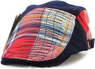 Roffatide Patch Plaid Newsboy Cap Flat Hat Girls Boys Beret Ivy Irish  Gatsby Cabbie Children Kids 61f4ab6a53a2