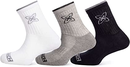 Munich Crew Fashion Shocks sokken, volwassenen, uniseks, wit, grijs, zwart (meerkleurig), M-L