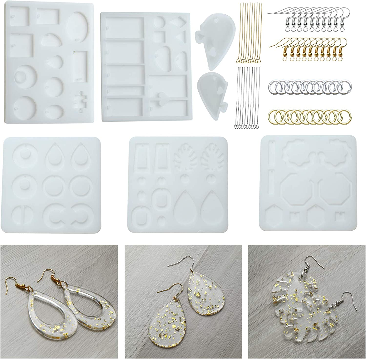 Alphabet Mold for Resin,Keychain Letter Silicone Resin Molds with Keychains Resin Drill Kits Epoxy Molds for DIY Keychain,Earring,House Number,Home Decoration /…