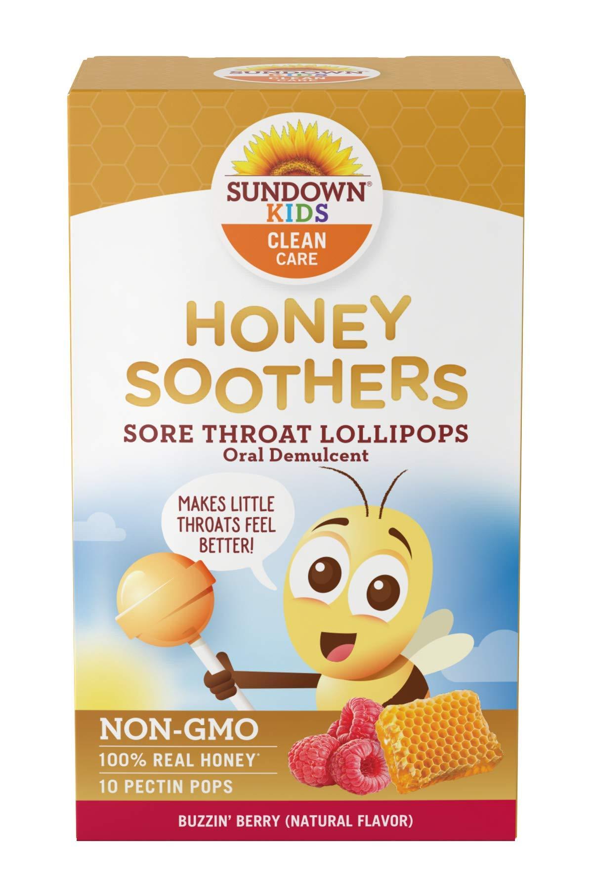 Sundown Kids Soother Lollipops Rasberry