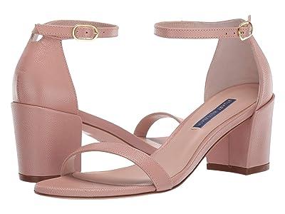 Stuart Weitzman Simple City Sandal (Buff Blush Caviar Patent) High Heels