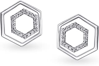 Mia by Tanishq 14 KT White Gold and Diamond Stud Earrings for Women
