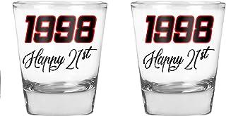 1998 Happy Birthday - Funny 21st Birthday Idea - 1.75 OZ Shot Glass (2)