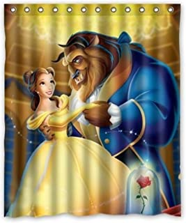Aloundi I-Manggo Custom Beauty and Beast Bathroom Shower Curtain