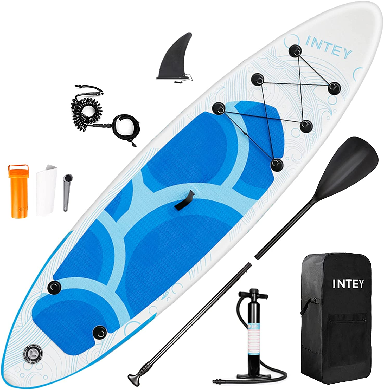 Spring new work depot Inflatable Stand Up Paddle Board 10FT SUP with Travel Portable B