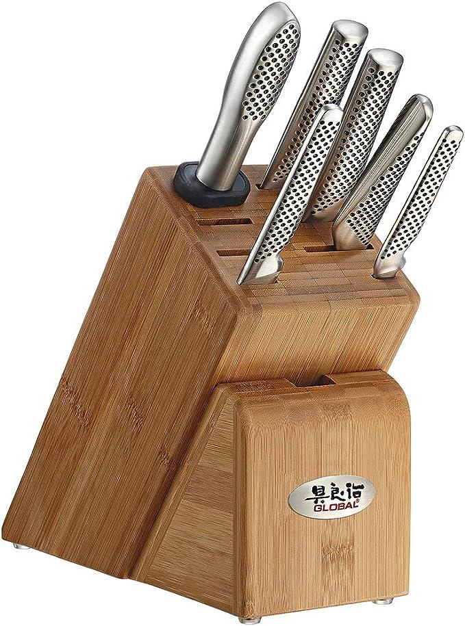 Global Takashi 7-Piece Knife Block Set