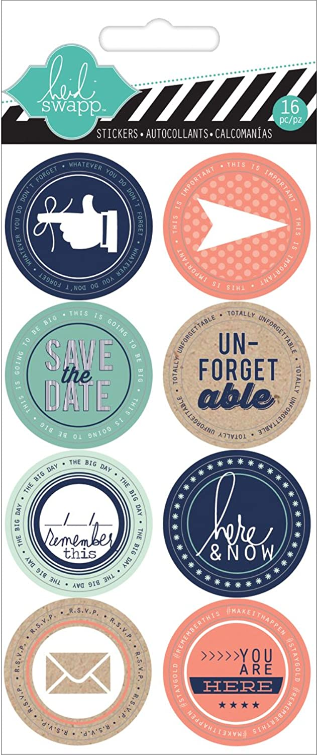 American Crafts Hello Today Remember Cardstock Stickers, 3.25  by 6.25