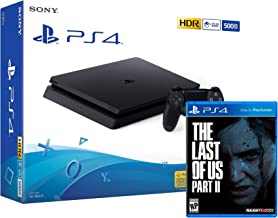 PS4 Slim 500Gb Negra Playstation 4 Consola + The Last Of Us 2