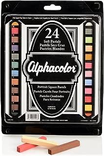 Quartet Alphacolor Soft Pastels, Multi-Cultural Portrait Pastels for Skin Tones, 24 Pastels per Set (102008)