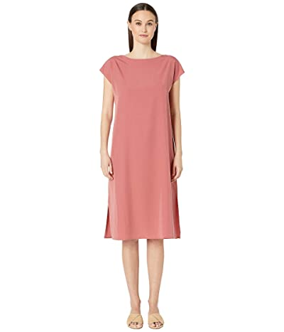 Eileen Fisher Bateau Neck Calf Length Dress (Chutney) Women
