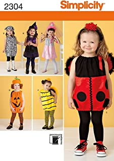 Simplicity Sewing Pattern 2304 Toddlers' Costumes, A (1/2-1-2-3-4)