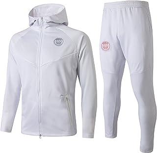 -KPL-C1063 WZH-ZQQY Abito Sportivo Sportivo Traspirante da Uomo in Campionato Europeo Club Club Suit da Uomo Giacca + Pantaloni Size:S,Color:Nero