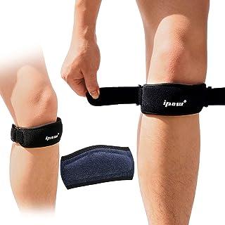 IPOW 2 Pack باریک پد و پهن پاتلا زانو بند، کمک درد Patellar Tendon پشتیبانی، گروه بند قابل تنظیم برای پیاده روی، بسکتبال، در حال اجرا، Jumpers زانو، والیبال، تاندونیت، آرتریت، بازیابی آسیب