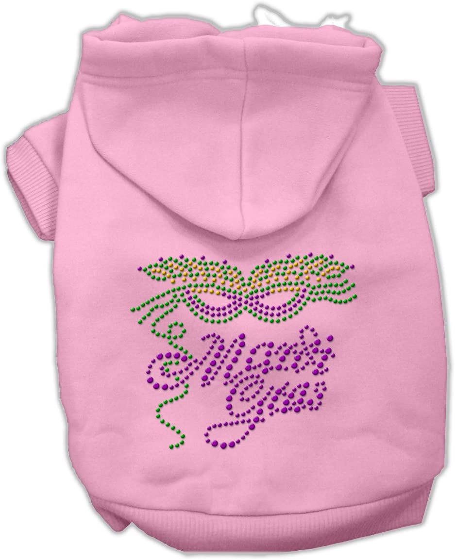 Mirage Pet Products Mardi Opening large release sale Gras Hoodies Pink New Free Shipping Rhinestud 16 XL