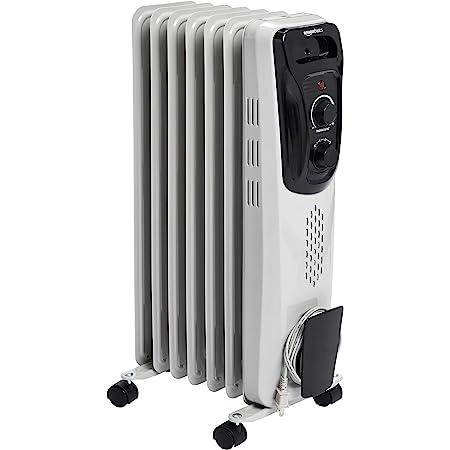 Amazon Basics Indoor Portable Radiator Heater - White