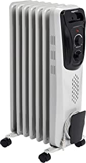 AmazonBasics Portable Radiator Heater, White