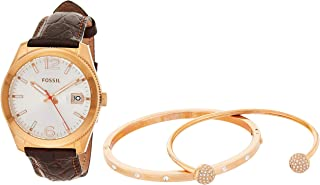 Fossil Women's Quartz Watch, Analog Display and Leather Strap ES3770