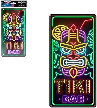 STC - Plaque Déco Effet Néon 15x30 cm – Tiki Bar