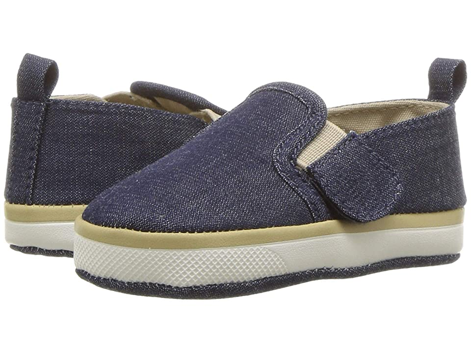 Baby Deer Soft Sole Denim Slip-On (Infant) (Denim) Boy