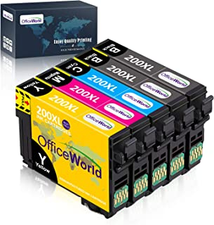 OfficeWorld Remanufactured Ink Cartridge Replacement for Epson 200 XL 200XL Used for XP-200 XP-310 XP-400 XP-410 XP-300 WF...