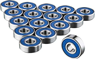 TRIXES 16 x 608 RS Skateboard Bearings – Frictionless ABEC 9 Roller Bearings for..