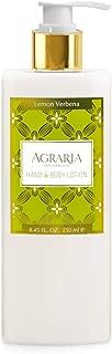 AGRARIA Lemon Verbena Luxury Hand and Body Lotion, 8.45 Ounces