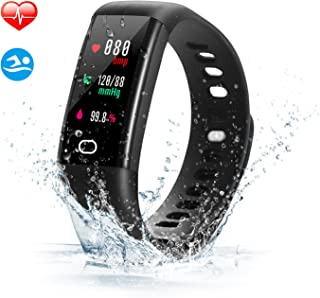 SAVFY Fitness Tracker Waterproof Activity Tracker Smart Watch Color Screen Wristband with Heart Rate Monitor, Pedometer, Sports Modes for iOS and Android