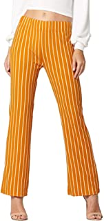 Conceited Women's Stretch Pants - Striped - Elastic Waist - All Day Comfort