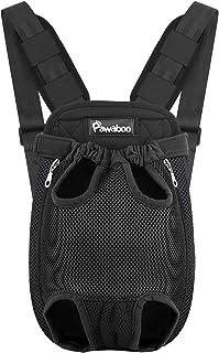 Pawaboo Pet Carrier Backpack, Adjustable Pet Front Cat Dog Carrier Backpack Travel Bag, Legs Out, Easy-Fit for Traveling H...