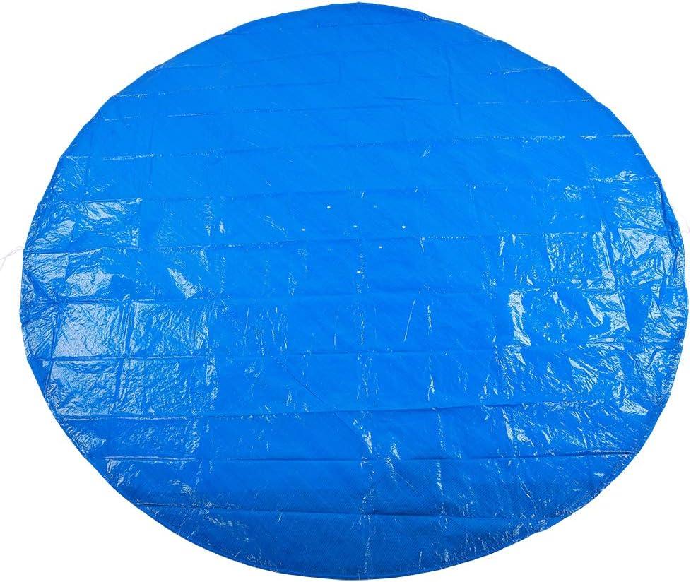 Buachois Cubierta de Piscina de Forma Redonda, Lona Tejida de, Cubierta de Piscina Impermeable a Prueba de Lluvia, Accesorios de Tela Protectora(3#)